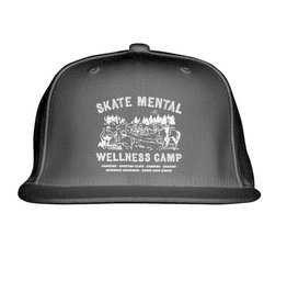 SKATE MENTAL WELLNESS HAT - BLACK