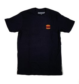 KINGSWELL BIG BURGER EMBROIDERED TEE - BLACK
