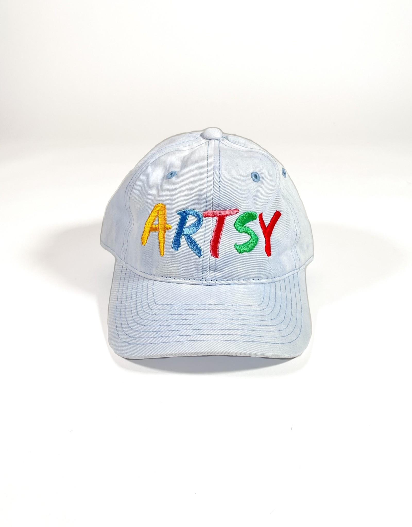 ARTSY LA ARTSY LA DAD HAT - WASHED BLUE