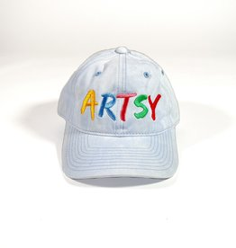 ARTSY LA ARTSY LA DAD HAT - WASHED BLUE