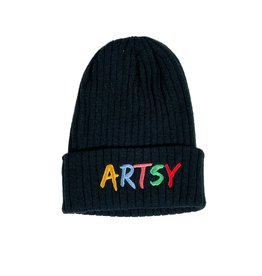 ARTSY LA ARTSY LA ARTSY BEANIE - BLACK