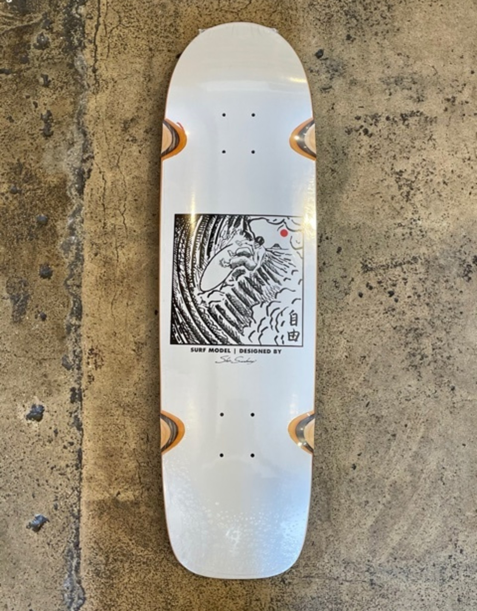 POLAR SHIN SANBONGI FREEDOM DECK WHITE WW  SURF - 8.75