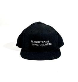 THE ROAD IS LIFE PLANES TRAINS AUTOMOBILES SNAPBACK HAT