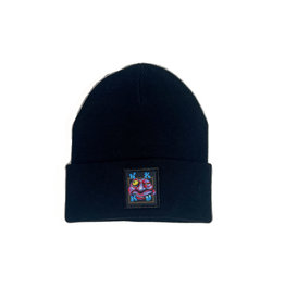 WKND ZOOTED BEANIE - BLACK