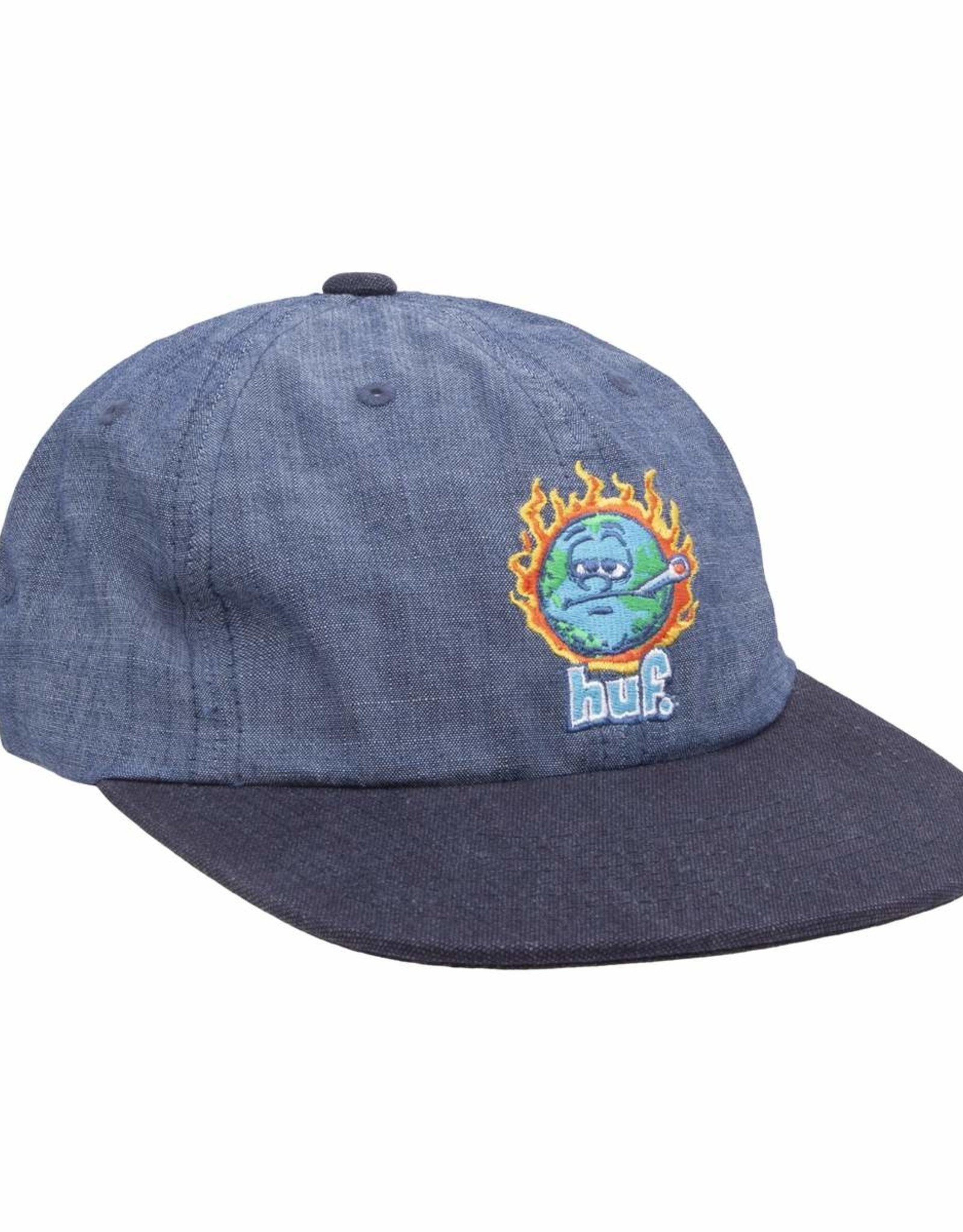 HUF GLOBAL WARMING 6 PANNEL HAT - BLUE CHAMBRAY