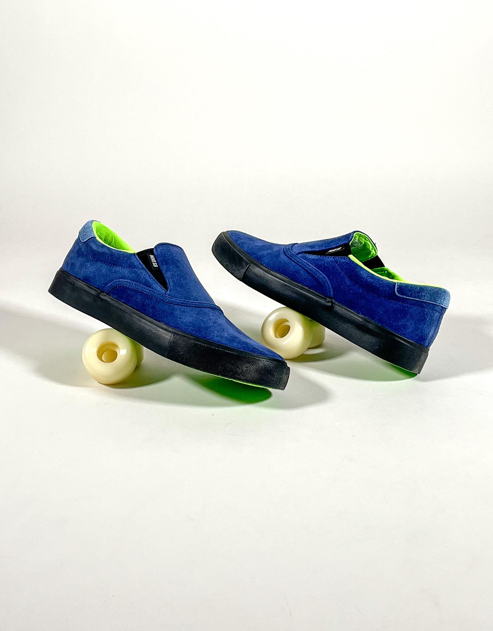 NIKE SB ZOOM VERONA SLIP X LEO BAKER BLUE VOID/BLACK-BLUE VOID-ELECTRIC GREEN