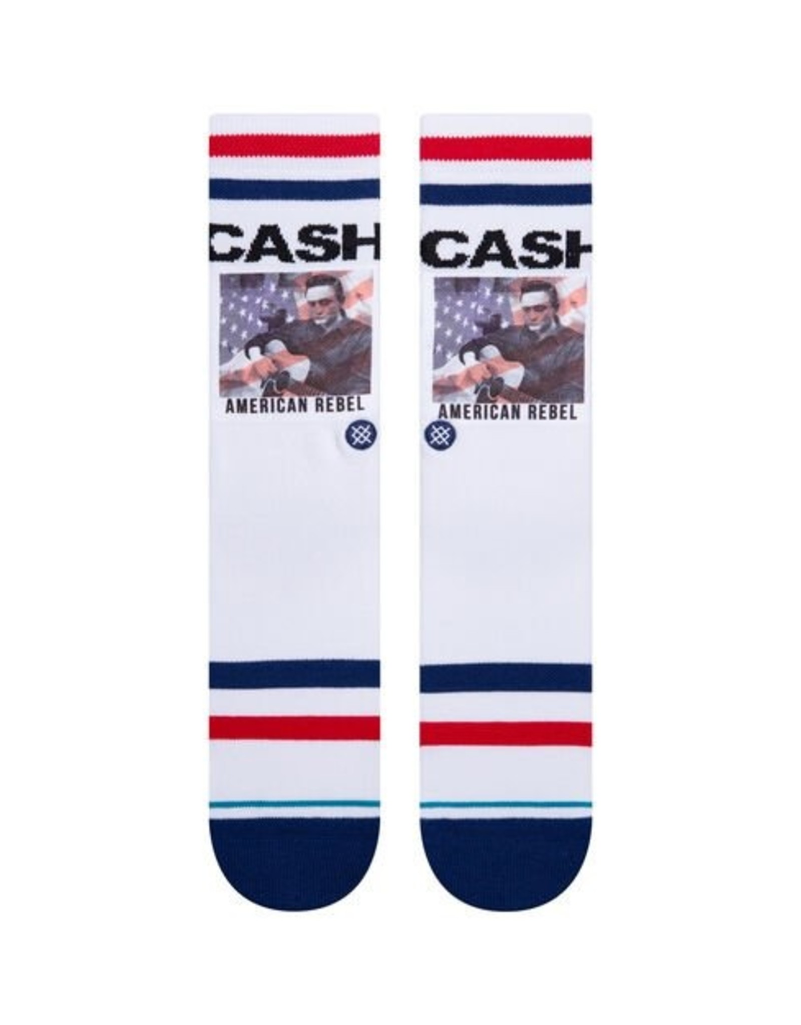 STANCE STANCE CASH AMERICAN REBEL SOCK - WHITE