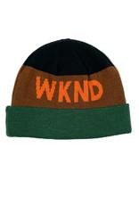 WKND COLLISION BEANIE - JADE/BROWN