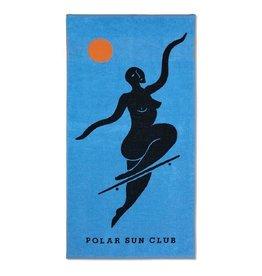 POLAR NO COMLIES FOREVER BEACH TOWEL - BLUE