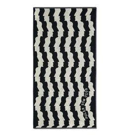 POLAR FACES BEACH TOWEL - BLACK