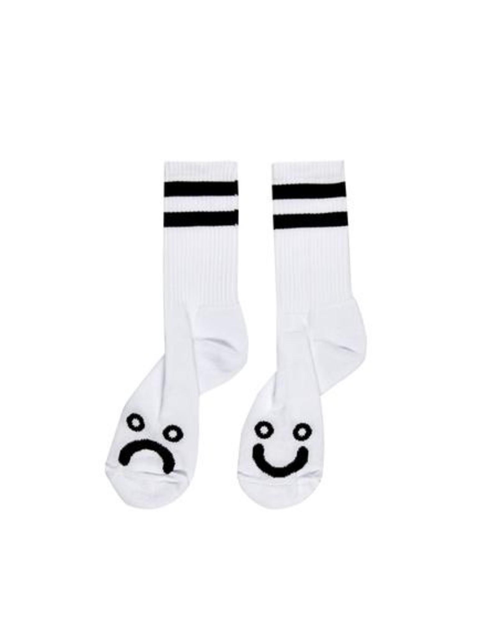 POLAR HAPPY SAD SOCKS - WHITE