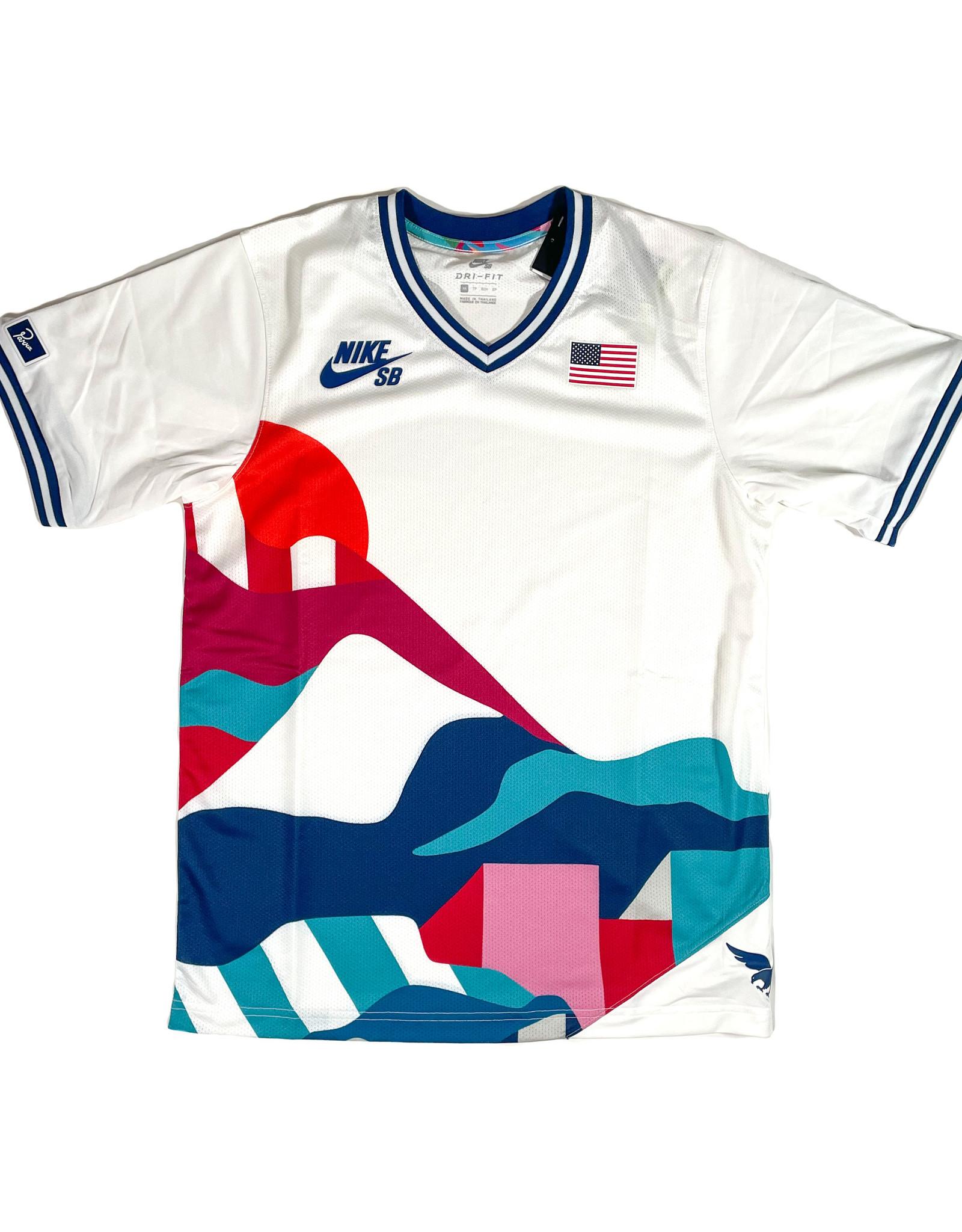 NIKE NIKE SB U.S.A SHIRT - WHITE/BRAVE BLUE
