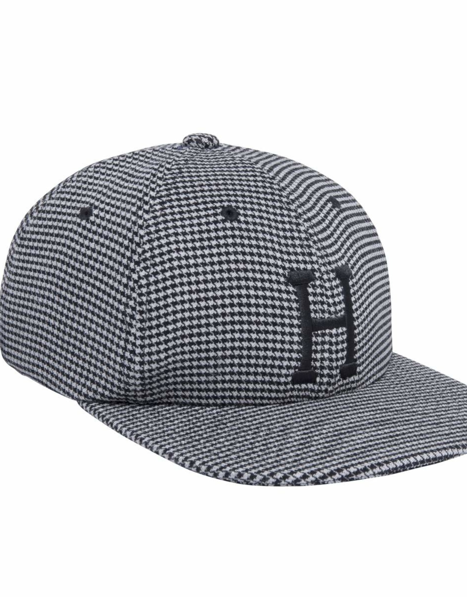 HUF CLASSIC H HOUNDSTOOTH 6 PANEL - BLACK