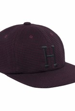 HUF CLASSIC H HOUNDSTOOTH 6 PANEL - BLOODSTONE