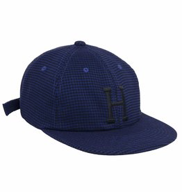 HUF CLASSIC H HOUNDSTOOTH 6 PANEL - NAVY