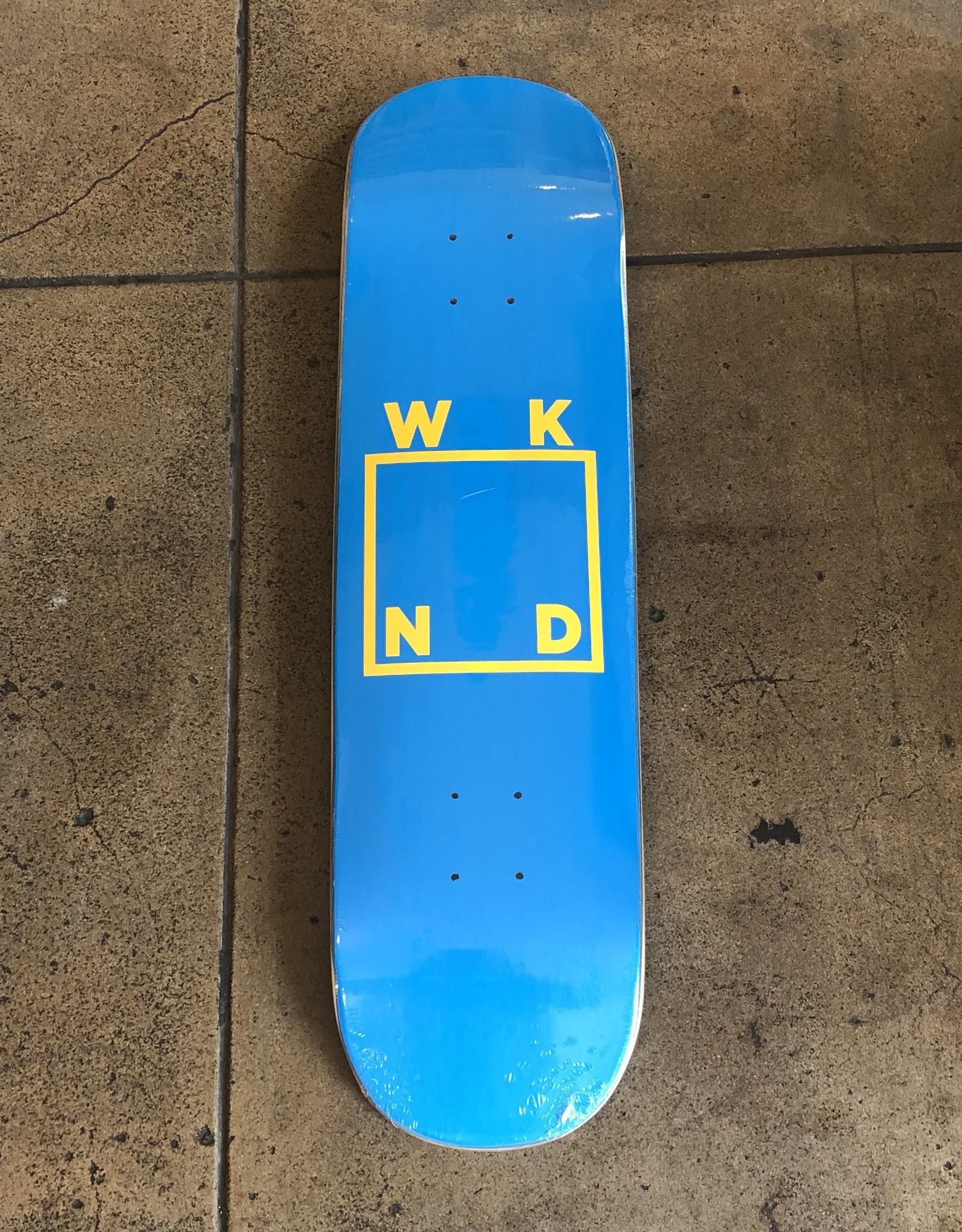 WKND LOGO DECK - 8.25 (BLUE/YELLOW)