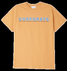 CORPORATE SKATEBOARDS CORPORATE NAMESAKE T-SHIRT - BROWN