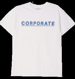 CORPORATE SKATEBOARDS CORPORATE NAMESAKE T-SHIRT - WHITE