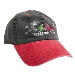 FROG FROG EXISTS! HAT - (BLACK/RED)