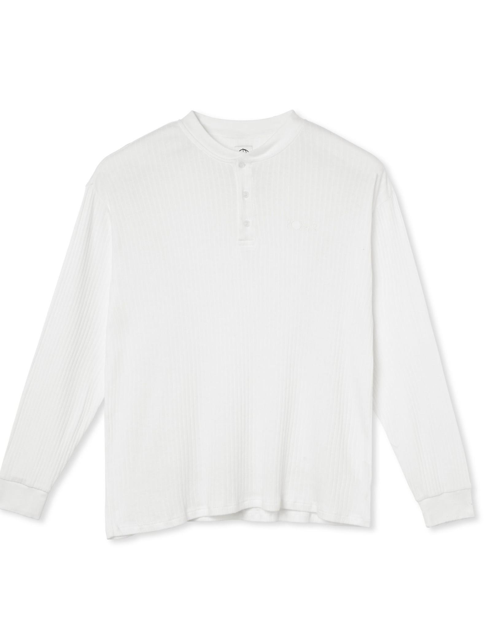 POLAR RIB HENLEY L/S SHIRT - CLOUD WHITE/WHITE