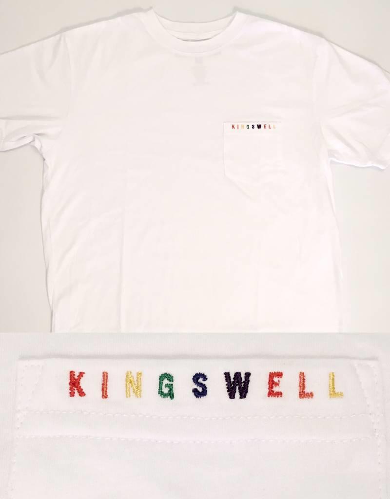 KINGSWELL KINGSWELL K-DUB EMBROIDERED POCKET TEES