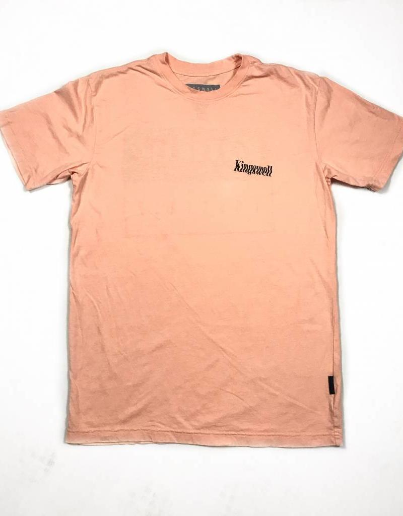 KINGSWELL KINGSWELL MICKEY HANDS TEE - BURNT PEACH