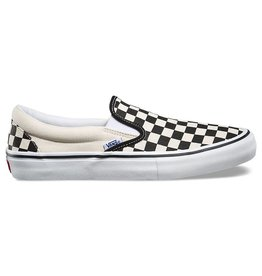 VANS SLIP ON PRO - (CHECKERBOARD) BLACK/WHITE