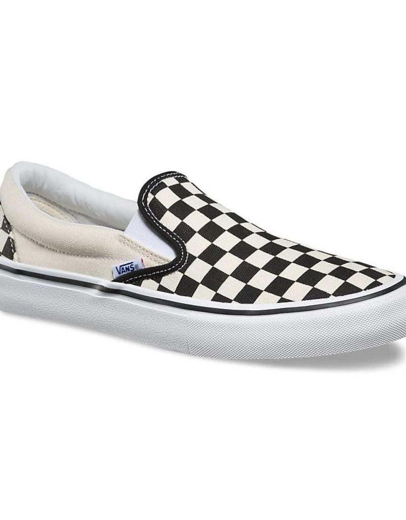 VANS SLIP ON PRO - (CHECKERBOARD)BLACK/WHITE