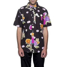 HUF BOTANICA S/S BUTTON - BLACK