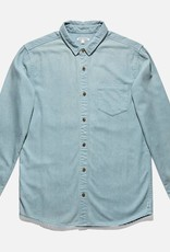 BANKS JOURNAL BANKS SPENCE L/S BUTTON - GLACIER BLUE