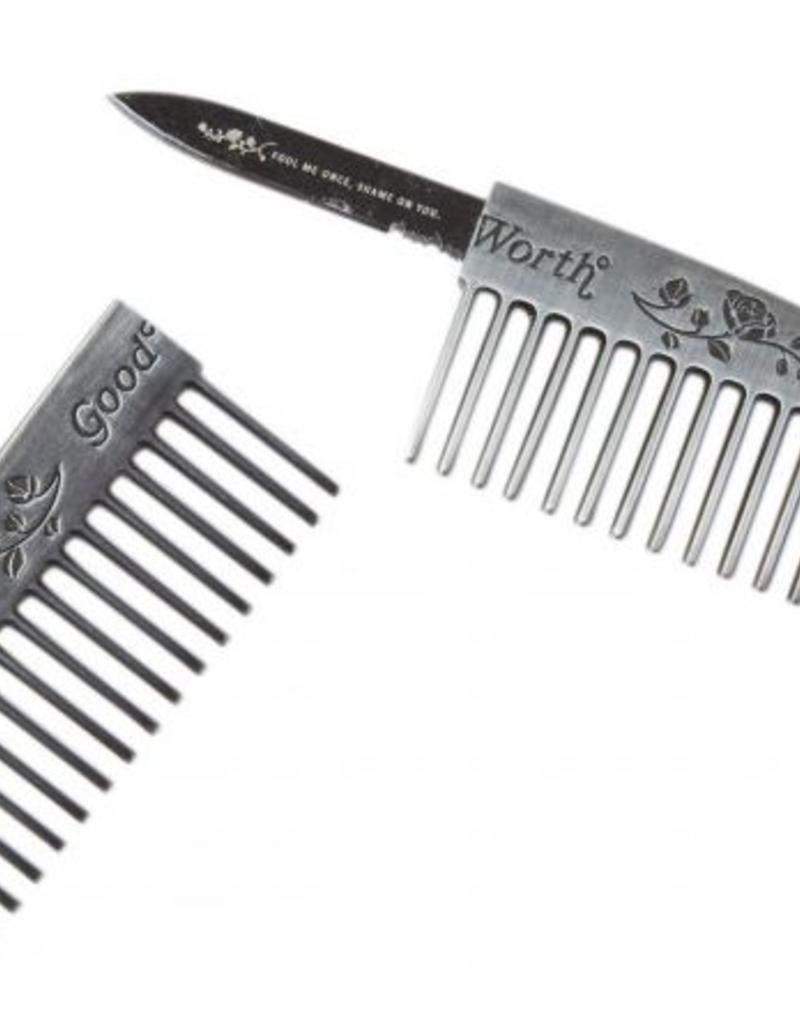 GOOD WORTH GOOD WORTH GENTLEMANS COMB - NICKEL
