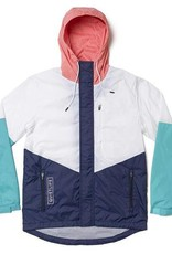QUIET LIFE QUIET LIFE SIERRA WINDBREAKER - WHITE/CORAL/TEAL