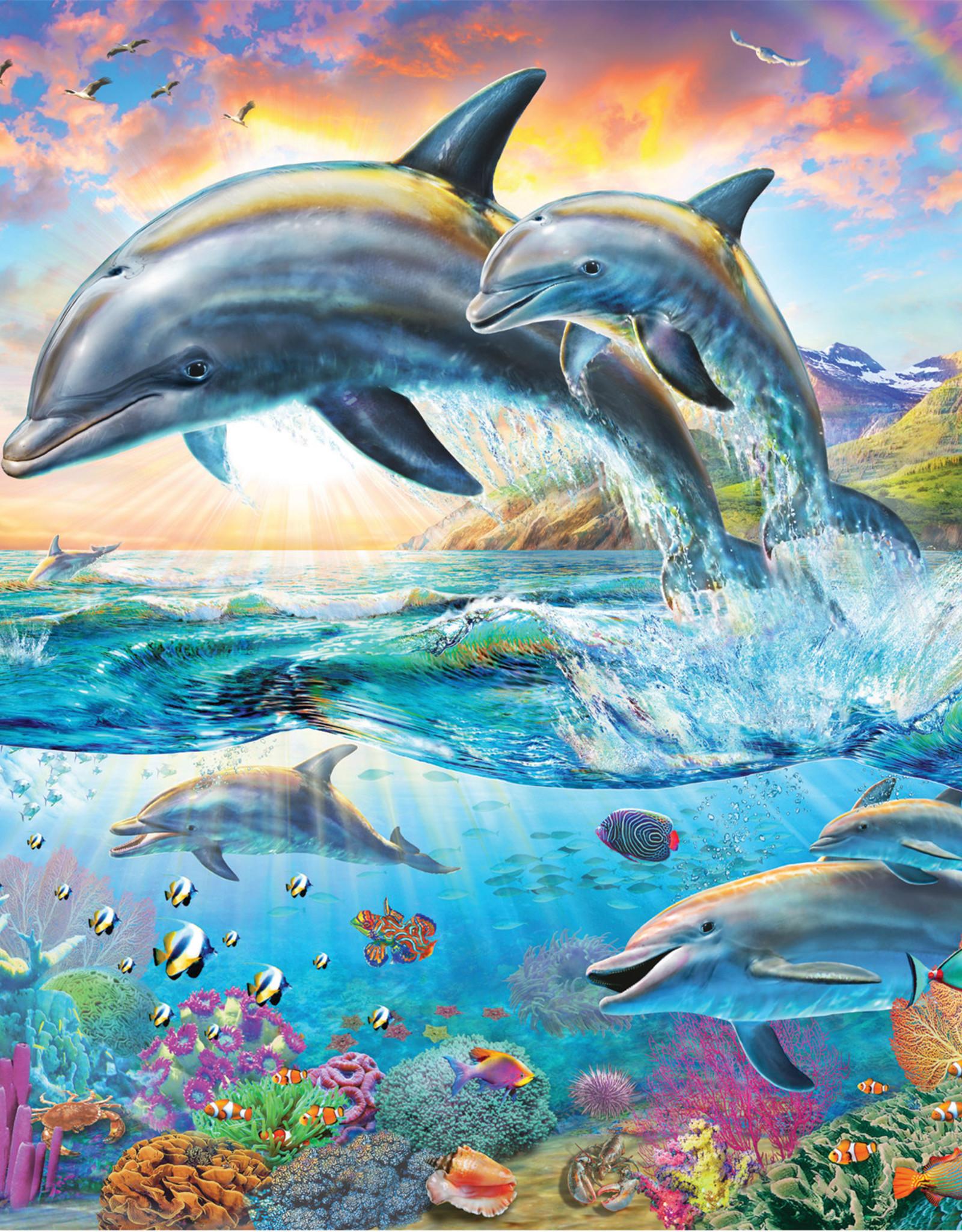 Ravensburger Vibrant Dolphins 100pc Puzzle + Coloring Booklet
