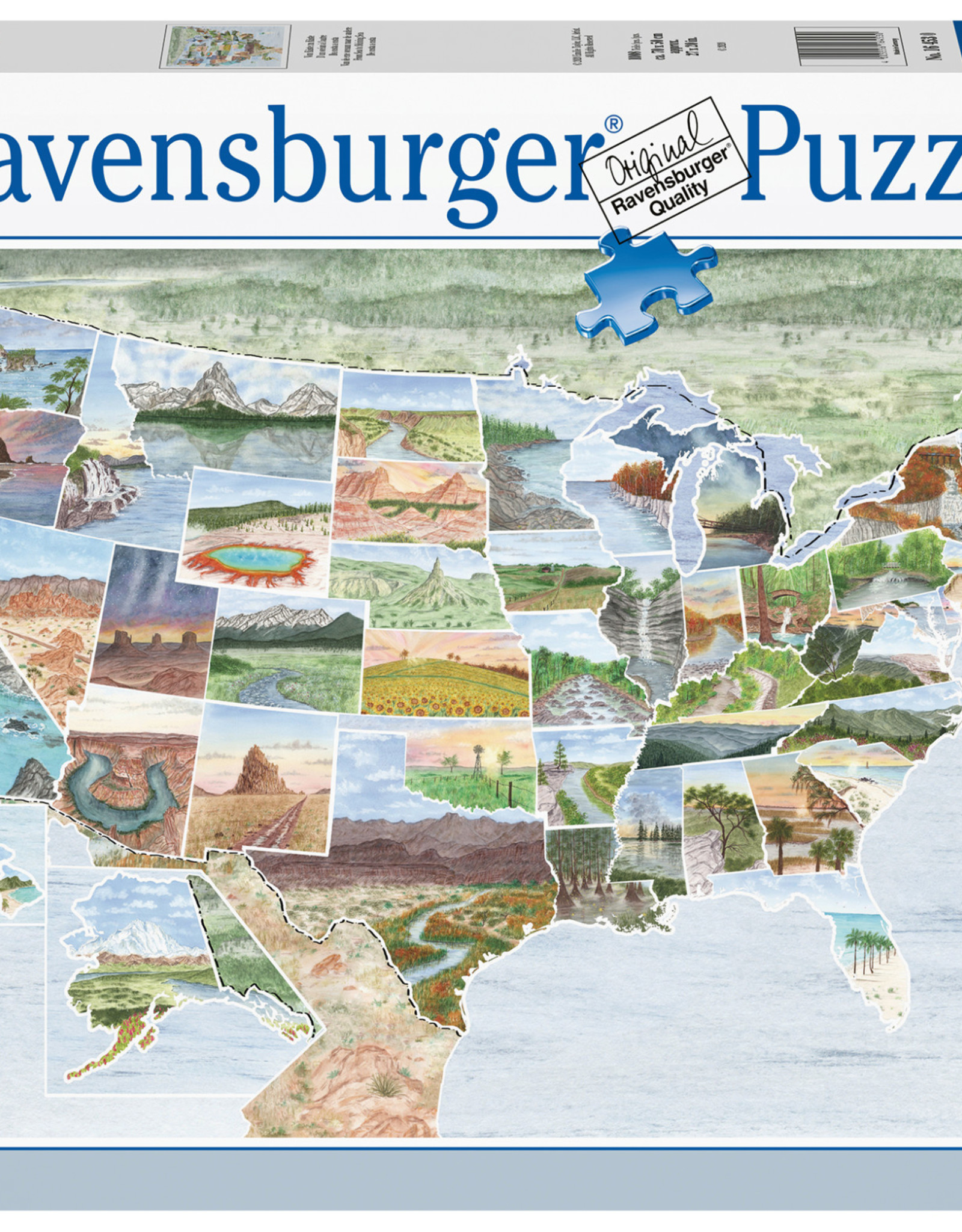 Ravensburger From Sea to Shining Sea 1000pc Puzzle