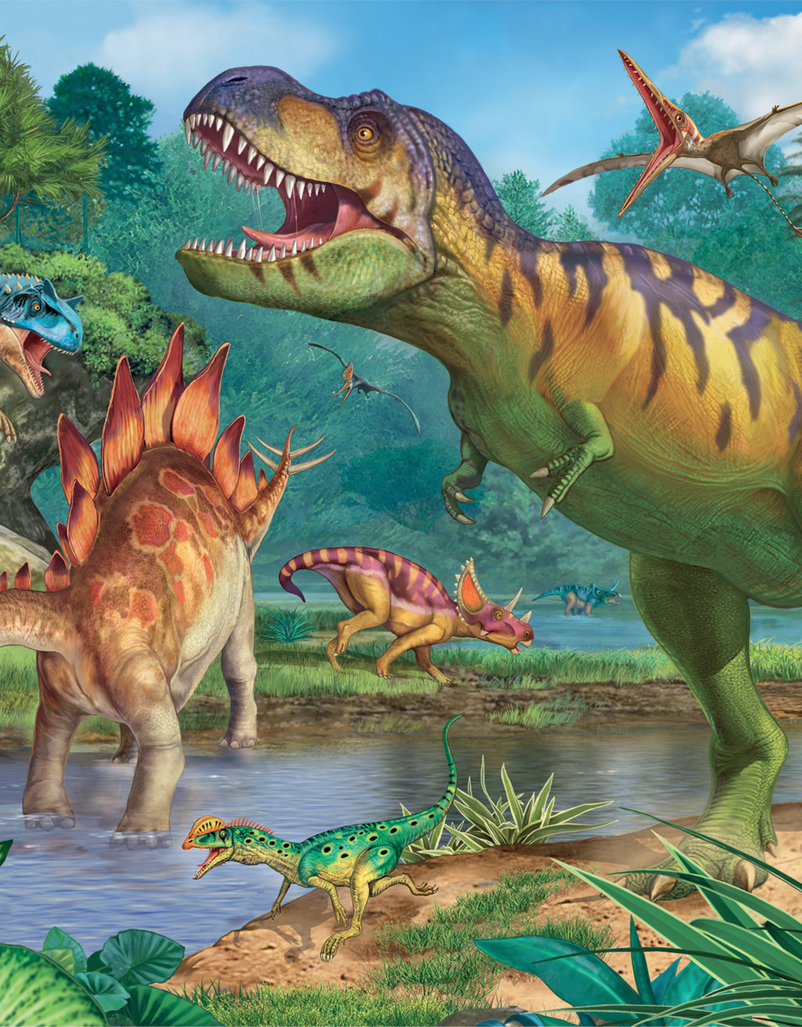 Ravensburger World of Dinosaurs 100pc Puzzle + Coloring Book