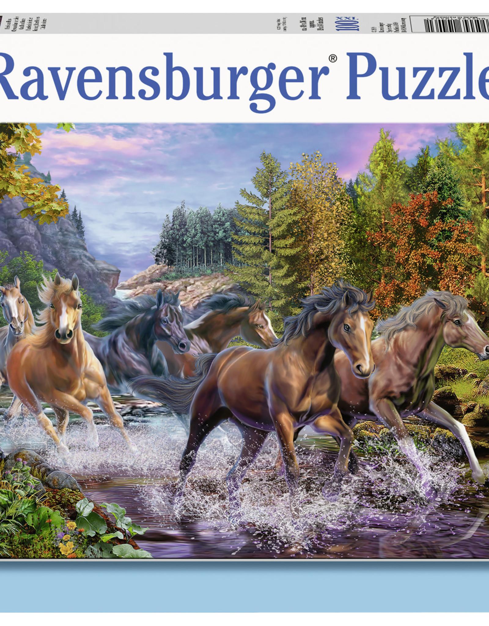 Ravensburger Rushing River Horses 100pc Puzzle