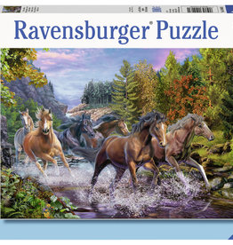 Ravensburger Rushing River Horses 100pc