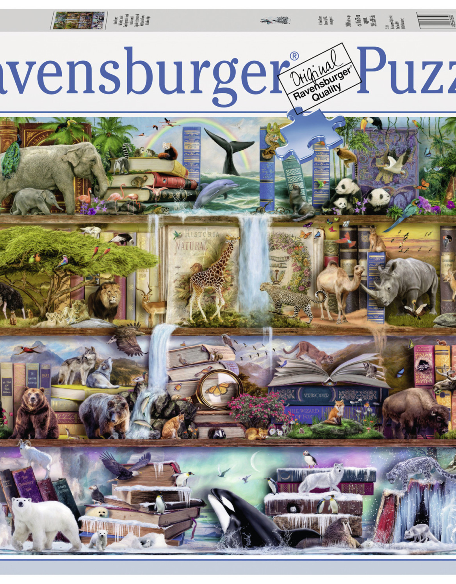 Ravensburger Wild Kingdom Shelves 2000pc Puzzle