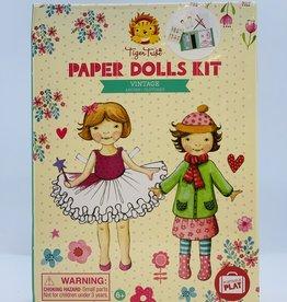 Tiger Tribe Paper Dolls Kit - Vintage