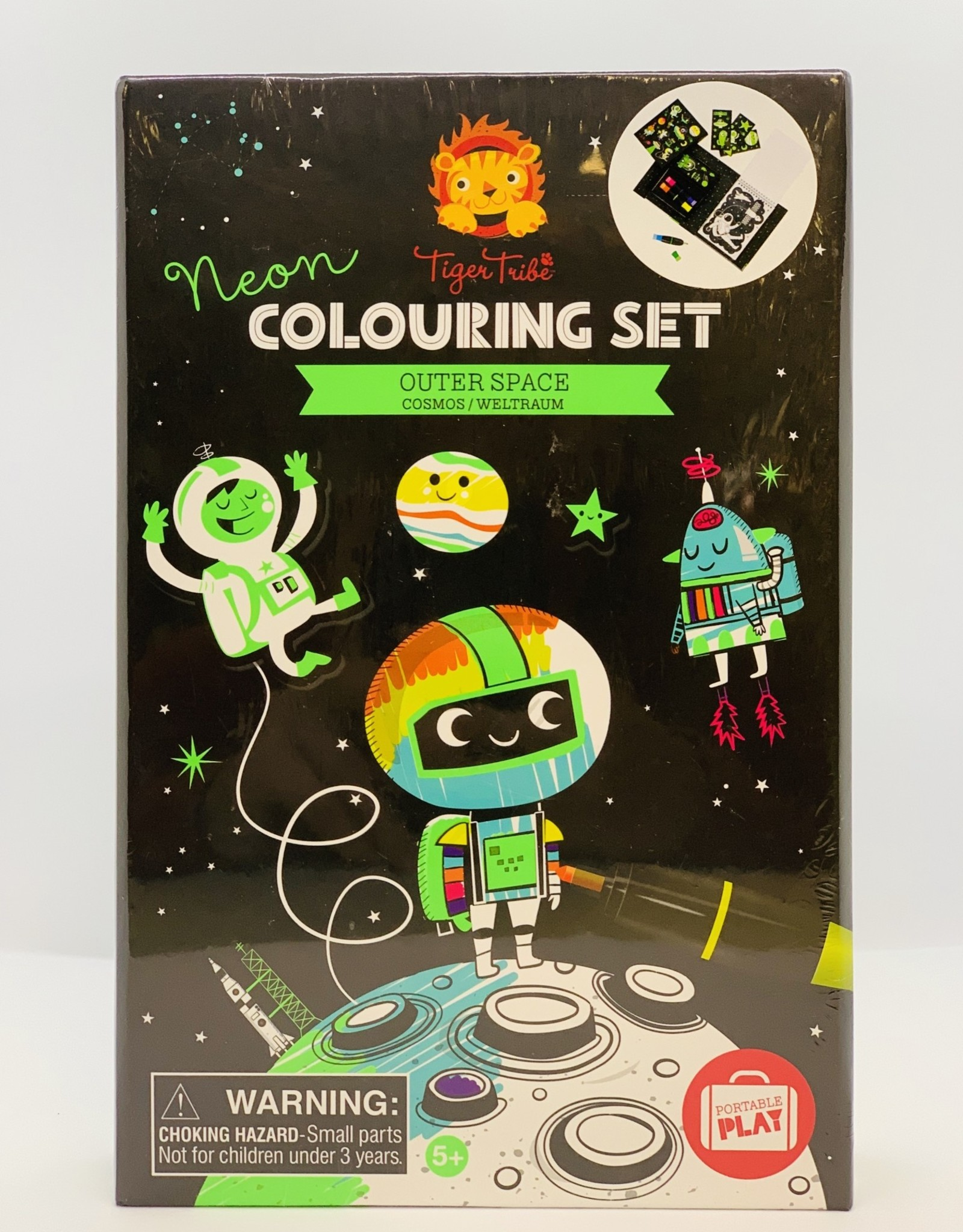 Tiger Tribe Neon Coloring Set - Outer Space