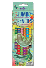 eeBoo Otters at Play 6 Jumbo Double Pencils