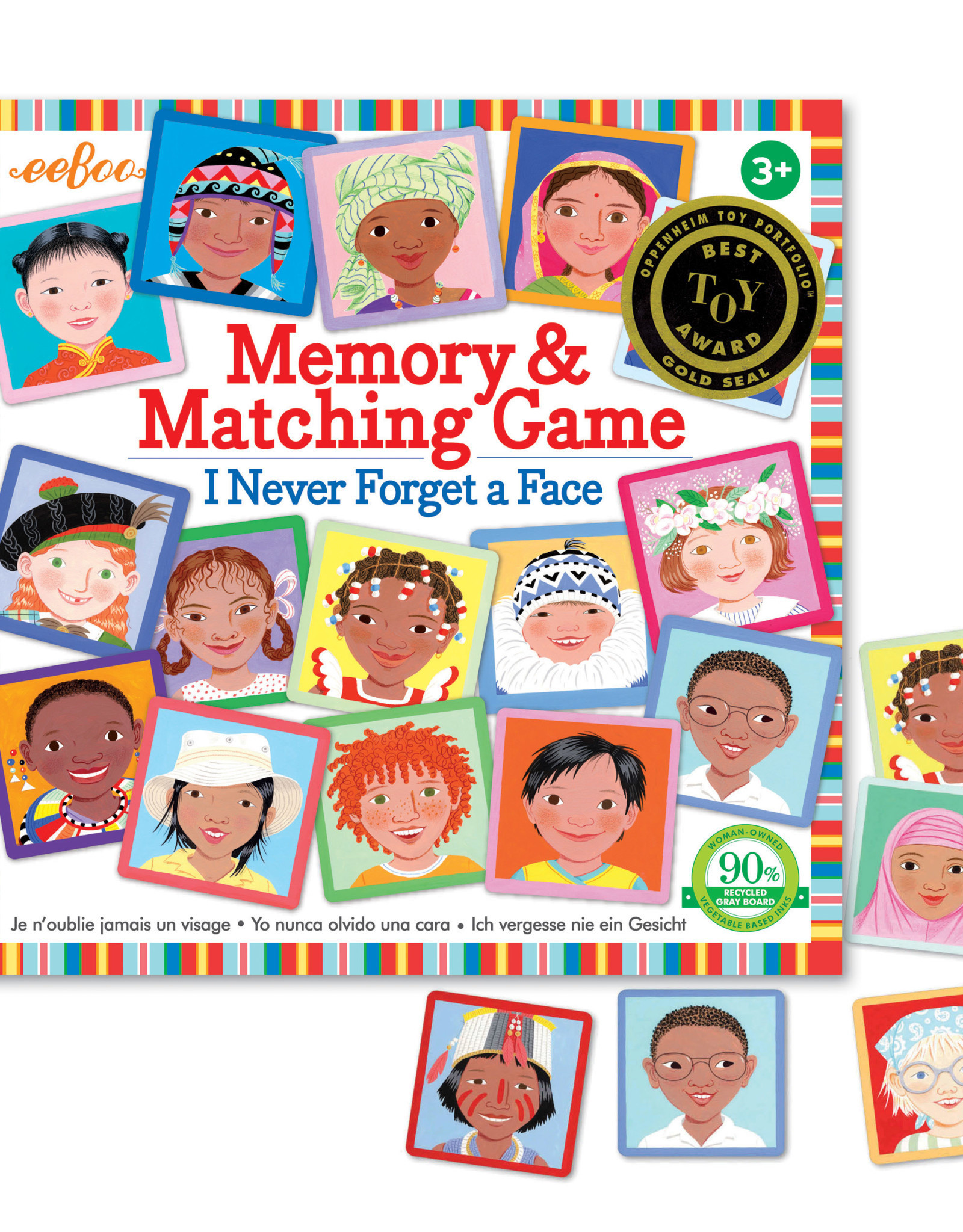 eeBoo I Never Forget a Face Memory Game