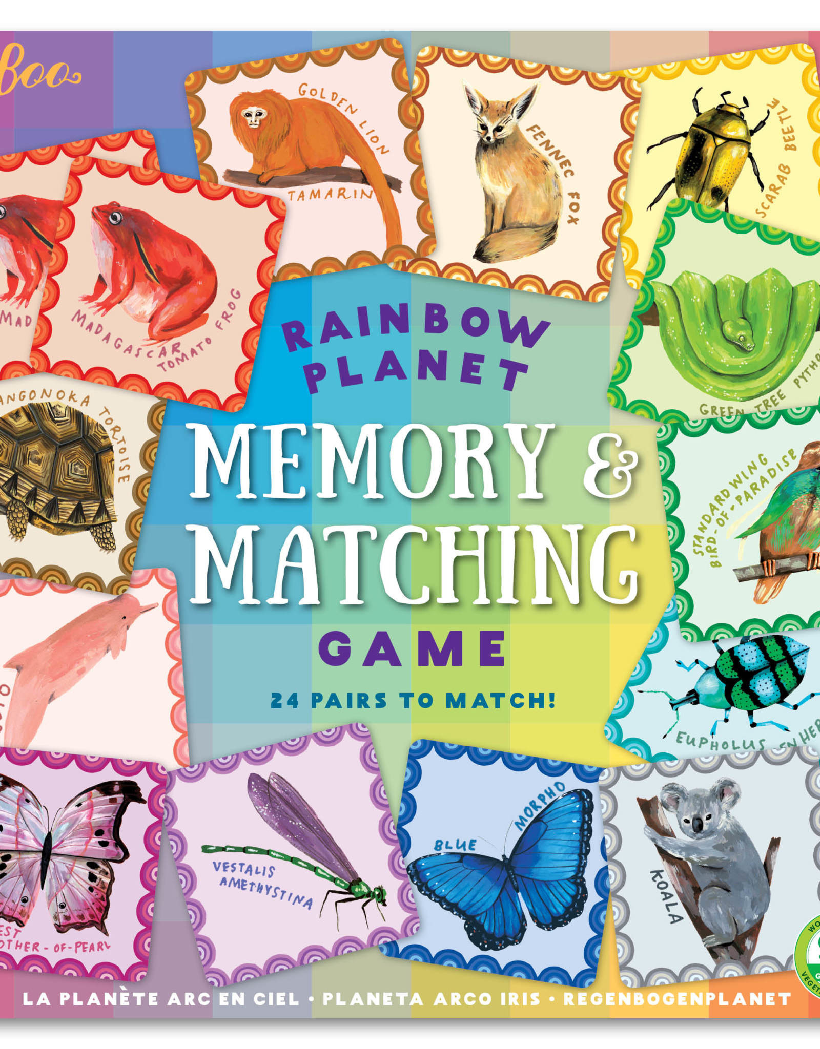 eeBoo Rainbow Planet Memory Matching Game