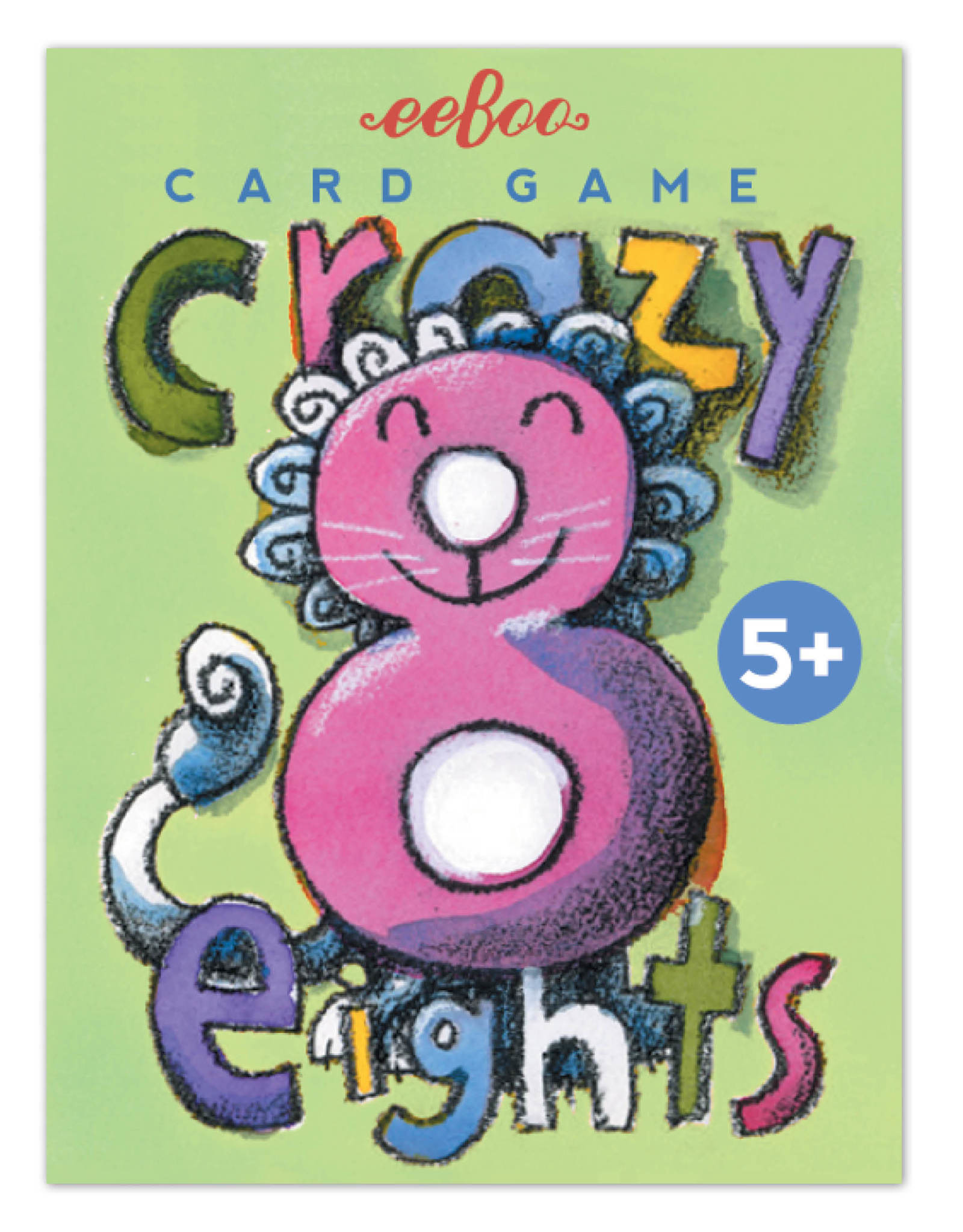 eeBoo Crazy Eights Card Game