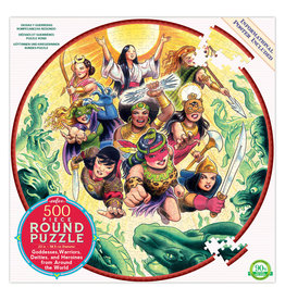 eeBoo Goddesses and Warriors 500pc Round Puzzle