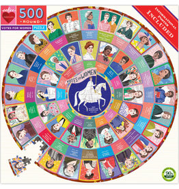 eeBoo Votes for Women 500pc Round Puzzle
