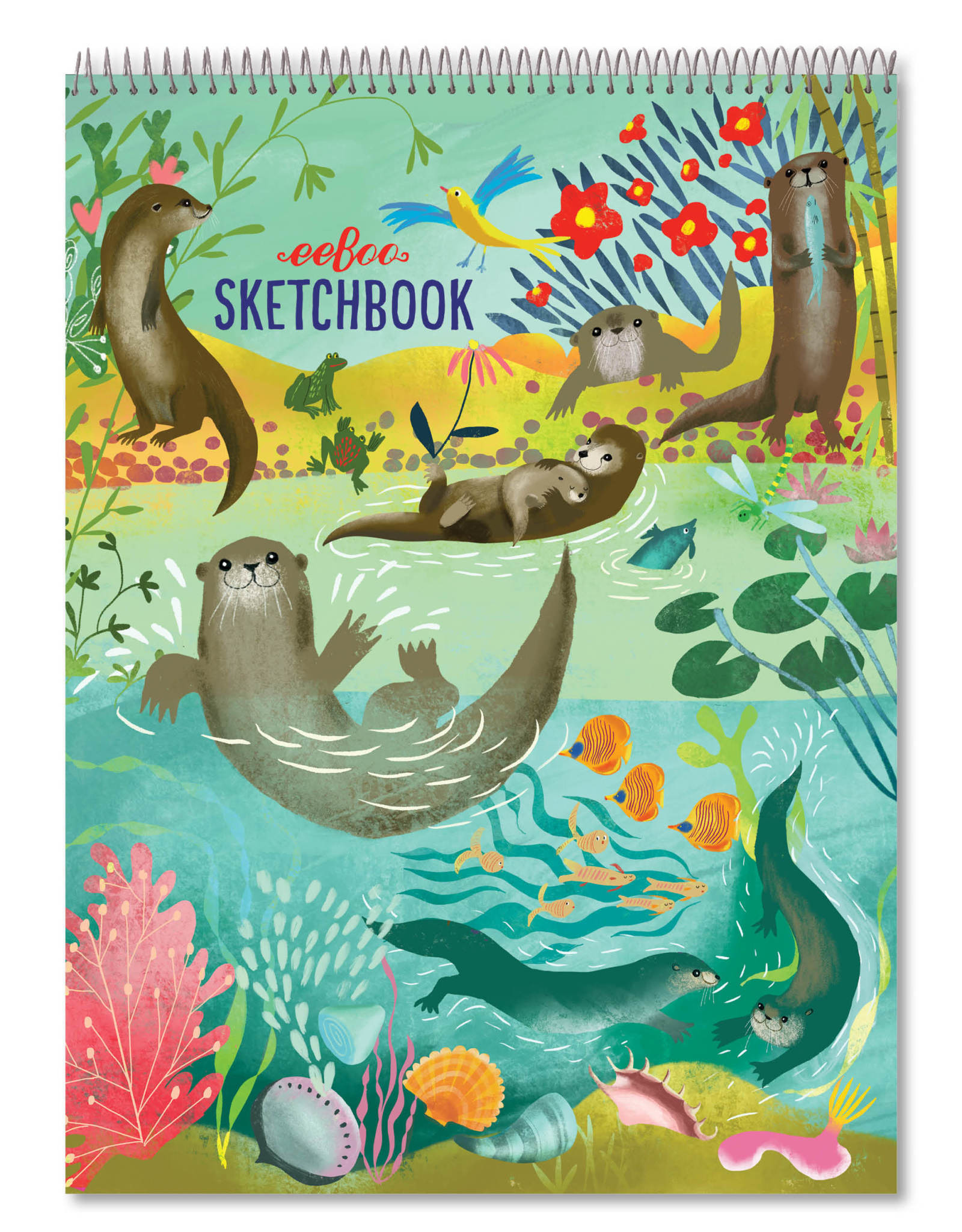 eeBoo Otters at Play Sketchbook