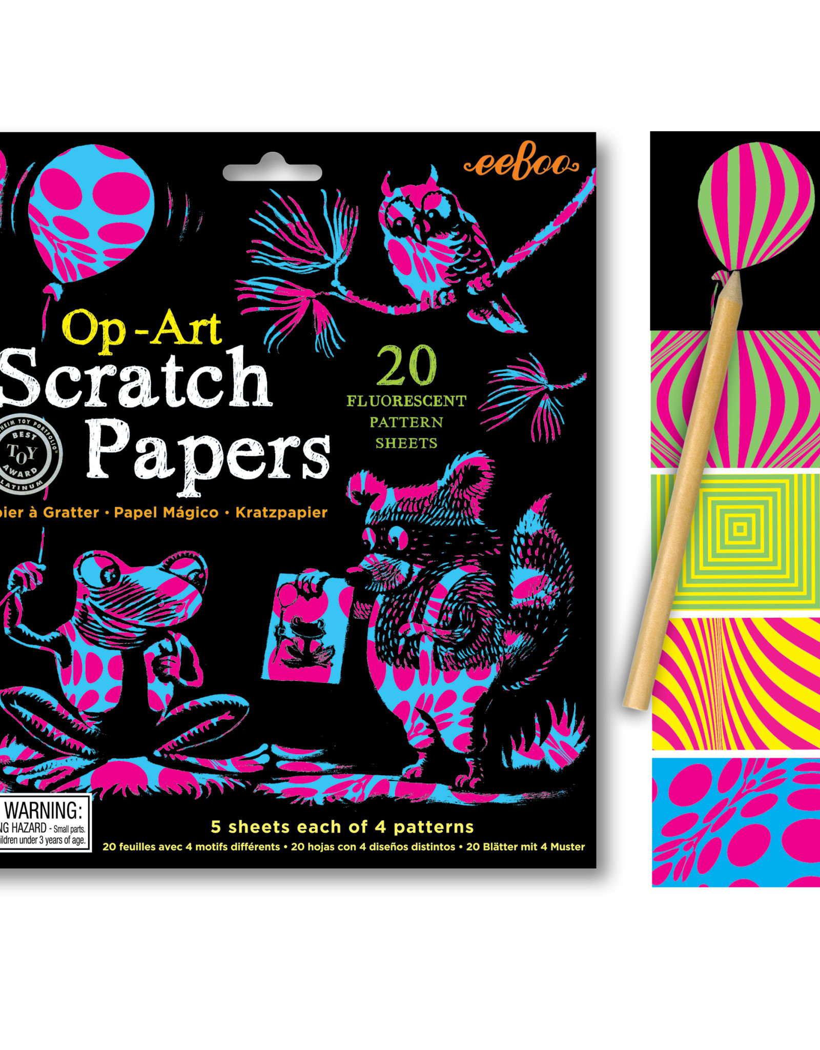 eeBoo Op-Art Scratch Papers