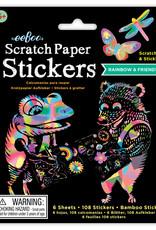 eeBoo Rainbow Friends Scratch Paper Stickers