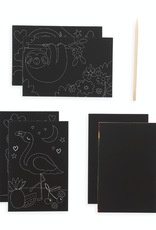 Ooly Mini Scratch & Scribble Art Kit - Funtastic Friends